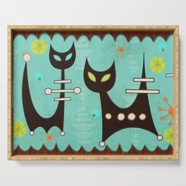 Atomic Cats Serving Tray