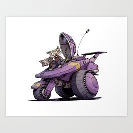 Sisters roll out! Art Print