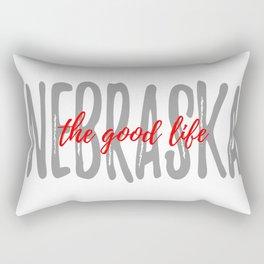 The Good Life - White Background - Nebraska Rectangular Pillow