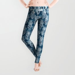 PINEAPPLE STANCE Indigo Boho Watercolor Leggings