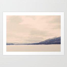 Winter Mountain Art Print