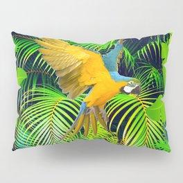 BLUE & GOLD MACAW JUNGLE  ART DESIGN Pillow Sham
