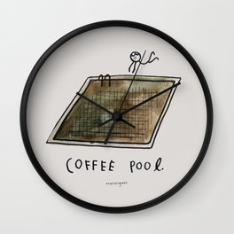 Coffee Pool Wall Clock