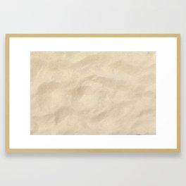 Light Brown Sand texture Framed Art Print