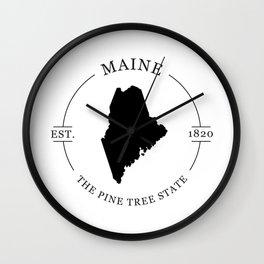 Maine - The Pine Tree State Wall Clock