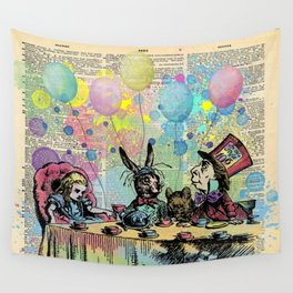 Tea Party Celebration - Alice In Wonderland Wall Tapestry