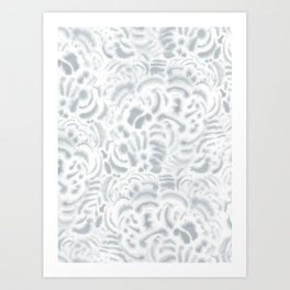 Dye Curves Grey Art Print