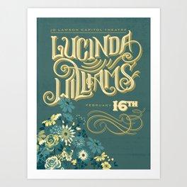 Lucinda Williams  Art Print