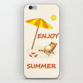 enjoy sunny summer iPhone Skin