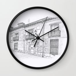 Streets of Alcalá Wall Clock