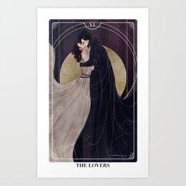 Reylo Tarot Cards: THE LOVERS Art Print