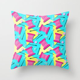Memphis Sewing - Brights Throw Pillow