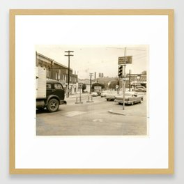 Beechurst Intersection Framed Art Print