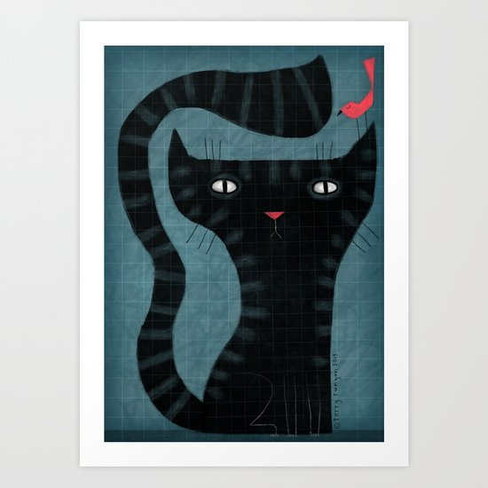GRID CAT Art Print