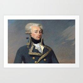 Portrait of Lafayette by Joseph désiré Court Art Print