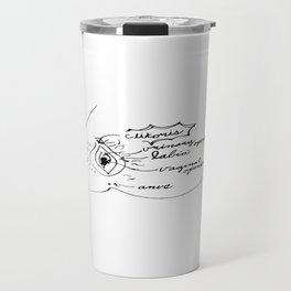 Vagina Diagram Travel Mug