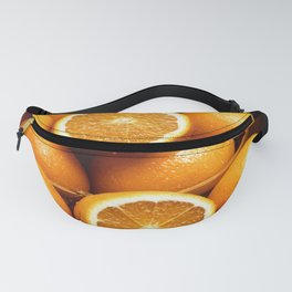 Sweet Oranges Whole and Halved Fanny Pack