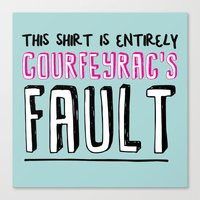 fault Canvas Prints featuring courfeyrac's fault by Gender Monster