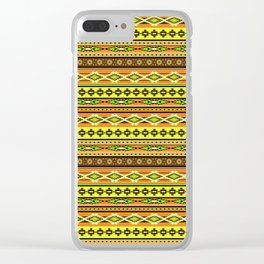 Modern Native Navajo Ethnic Tribal - Sunrise Clear iPhone Case