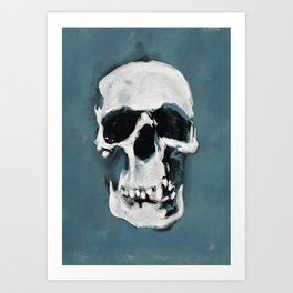 The Sherlock Skull Art Print