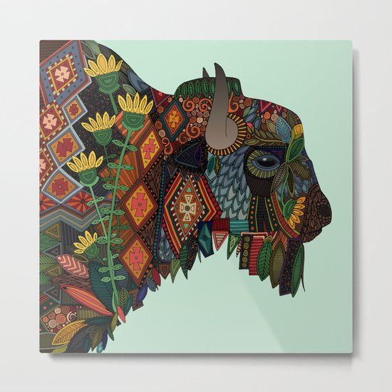 bison mint Metal Print
