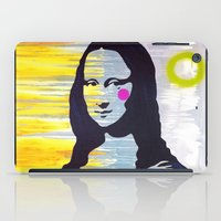 mona lisa iPad Cases featuring Mona Lisa by Paola Gonzalez