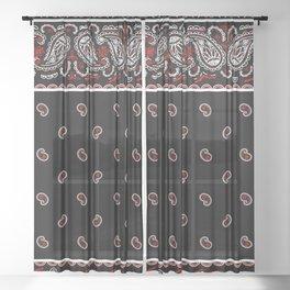 Wicked Black Bandana Sheer Curtain