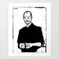 steve jobs Art Prints featuring Steve Jobs by skaaren