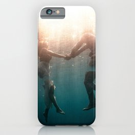 Breaking Up-Surreal Couple in the Ocean iPhone Case