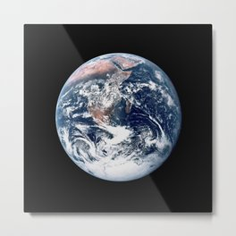 Apollo 17 - Iconic Blue Marble Photograph Metal Print
