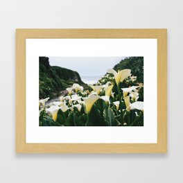In the Flowers Framed Art Print