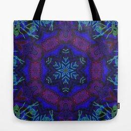 Bioluminescent Tribal Lotus Tote Bag