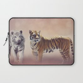 White And Brown Bengal Tigers Laptop Sleeve