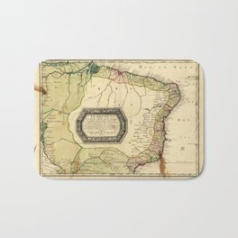 Le Bresil (Map of Brazil circa 1656) Bath Mat