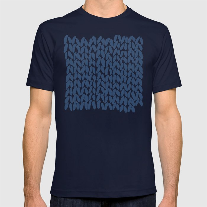Half Knit Navy T-shirt