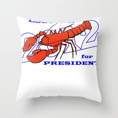 Lobster for President Throw Pillow