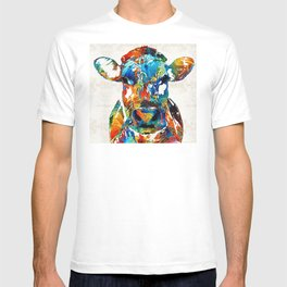 Colorful Cow Art - Mootown - By Sharon Cummings T-shirt
