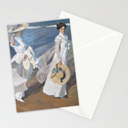 Joaquín Sorolla y Bastida - Strolling along the Seashore Stationery Cards