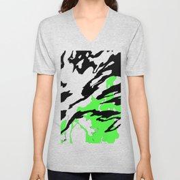 Green and Black Unisex V-Neck