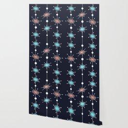 Atomic Era Satellites (Night) Wallpaper