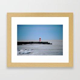 red, white and blue Framed Art Print