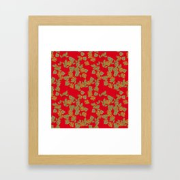 The fall, autumn leaves. Framed Art Print