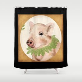 bayleaves and boar Shower Curtain