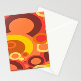 Abstract Collection Of Circles Stationery Cards