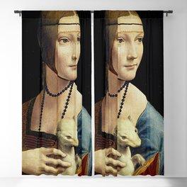 THE LADY WITH AN ERMINE - DA VINCI Blackout Curtain