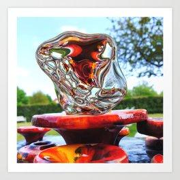 Water Sculpture in Kunsthaus-Lay Garden Art Print