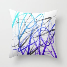 Expressive and Spontaneous Abstract Marker Throw Pillow