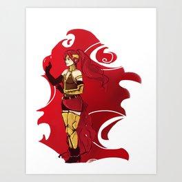 RWBY Pyrrha Art Print