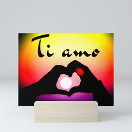 Ti amo in popart Mini Art Print