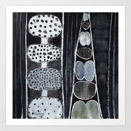 Fragile Sculptures in the Dark  Art Print